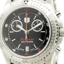 TAG Heuer Polished Tagheuer Link Searacer Chronograph Steel...