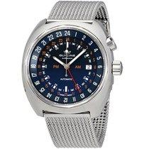 Glycine Airman SST 12 Blue Dial Men's Steel Mesh Watch