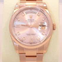 Rolex President Day-date Oyster 18k Rose Factory Diamond Dial...