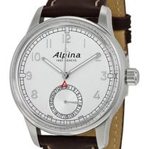 Alpina Alpiner Manufacture Automatic Brown Mens Strap Watch...