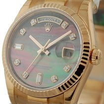 Rolex Day-Date President Tahitian Mother Of Pearl Diamond Dial