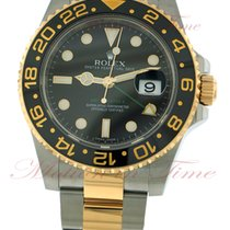 Rolex GMT-Master II, Black Dial - Stainless Steel / Yellow...