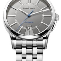 Maurice Lacroix Date Steel Strap, Grey Dial, Silver Hands and...