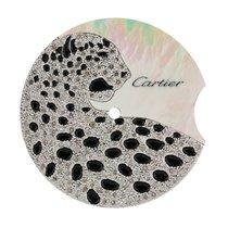 Cartier Ballon Bleu 36mm Mother of Pearl/Diamond Leopard...