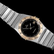 Omega Constellation Mens 35mm Watch, Quartz, Date, Black Dial...