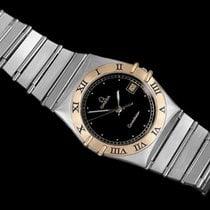 Omega Constellation Mens 35mm Watch, Quartz, Date, Black Dial...