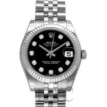 롤렉스 (Rolex) Datejust Black Dial Midsize Jubilee Bracelet...