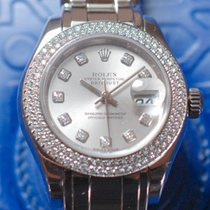Rolex Datejust Pearlmaster Lady Whitegold, Original Dia
