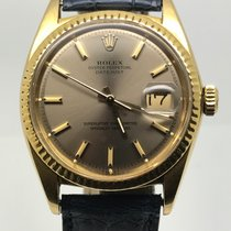 Rolex DATEJUST 36MM GOLD 18K VERY RARE GREY DIAL YEAR 1969