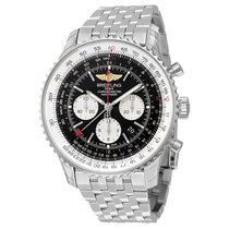 Breitling Navitimer GMT Black Dial Men's Watch AB044121/BD24