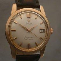 Omega vintage 1960 seamaster calendar pink gold 18kt ref 2849...