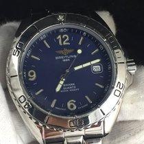 Breitling Shark Quartz Herren Uhr 43mm Stahl/stahl Rar Klass