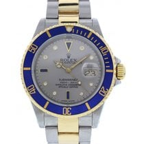 Rolex Submariner Date 16613 18k YG/ SS Diamond Dial