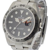 Rolex Used 216570_Used_black New Style Explorer II with Black...
