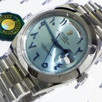 Rolex Oyster Perpetual Day-Date Ice Blue with Indian/Arabic...