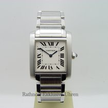 Cartier Tank Francaise Stahl