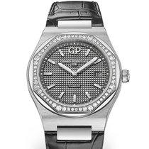 Girard Perregaux LAUREATO 34mm Steel Dial Grey Strap Dark Grey