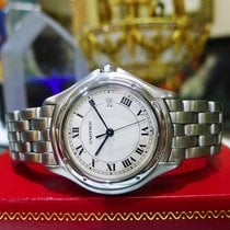Cartier Panther Cougar 32mm Steel Roman Numeral Watch Ref: 987904
