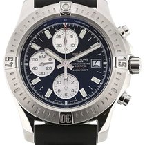 Breitling Colt Chronograph 44MM Black Rubber Strap Men Watch...