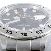 Rolex Mens SS 216570 Explorer II - Black Dial - 42MM