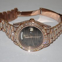 Rolex Day-Date II President 18K Solid Rose Gold Diamnods