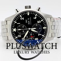IWC Pilot's Chronograph Automatic Steel Black Dial...