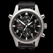 IWC Pilot's Chronograph Double Stainless Steel Gents IW377801