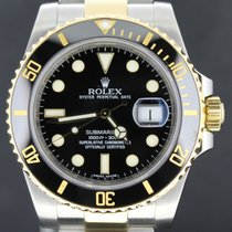 Rolex Submariner Gold/Steel, Black Dial Full set  2013 Mint
