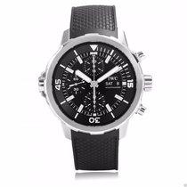 IWC IW376803 Aquatimer Chronograph 44mm Black Dial Black Rubber