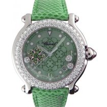 Chopard 2884272001 Happy Sport Lucky Clover in White Gold with...