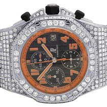Audemars Piguet Mens 42 MM  Royal Oak Offshore Volcano Diamond...