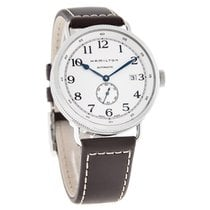 Hamilton Navy Pioneer Mens Brown Strap Swiss Automatic Watch...