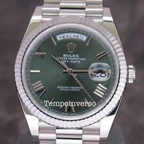 Rolex Day-Date 40  WG  green anniversary  dial full set228239