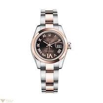 Rolex Datejust Stainless Steel & 18K Rose Gold Ladies Watch