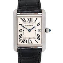 Cartier Tank Louis 18K White Gold Quartz Men's Watch – W1540956