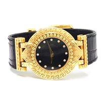 Versace Signature Solid 18kt Yellow Gold Quartz Watch