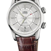 Oris Artelier Alarm Stainless Steel with Silver Index