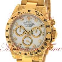 Rolex Cosmograph Daytona, White Diamond Dial - Yellow Gold on...