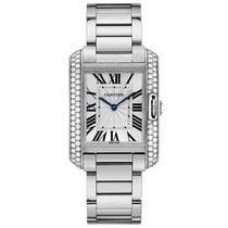 Cartier Tank Anglaise Quartz Mens Watch Ref WT100028