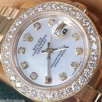 Rolex Lady President 18k Gold Mother Of Pearl Diamond Dial...