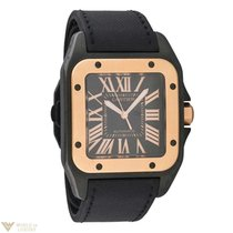 Cartier Santos 100 Black PVD 18k Rose Gold and Black PVD...