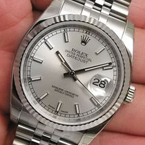 Rolex Datejust 116234 Mens Steel & 18k White Gold Jubilee...