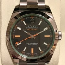Rolex Milgauss, Black Dial, Green Sapphire Crystal, 116400GV, NEW