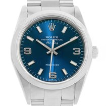 Rolex Air King Blue Dial Automatic Steel Mens Watch 14000 Box