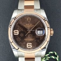 Rolex Datejust, Ref. 116231 - choco floral Dia. ZB/Oysterband