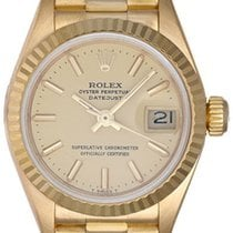 Rolex Ladies President 18k Yellow Gold Watch 69178 Champagne Dial