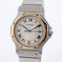 Cartier Santos Ronde Quarz Herrenuhr Stahl/ Gold