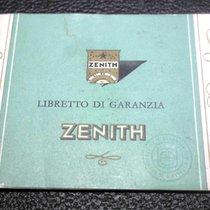 Zenith vintage green warranty booklet watch steel