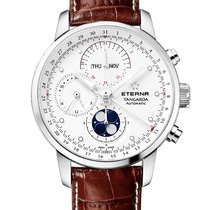 Eterna .. Tangaroa Automatik Chronograph Mondphase NEW FULL SET