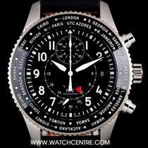 IWC S/S Unworn Pilots Watch Timezoner Chronograph B&P...